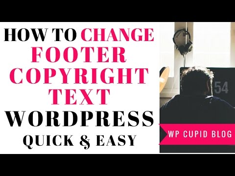 How To Change The Footer Copyright Text In All WordPress Themes