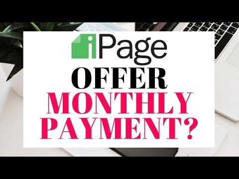 Does Ipage Offer Monthly Payment? Or Payment All At Once?