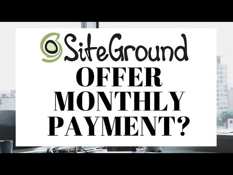 Siteground Monthly Plan   Can I Pay Monthly?