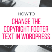 change-the-footer-copyright-text-in-wordpress