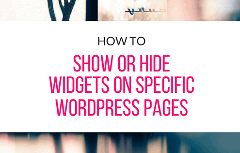 show-or-hide-widgets-on-specific-wordpress-pages