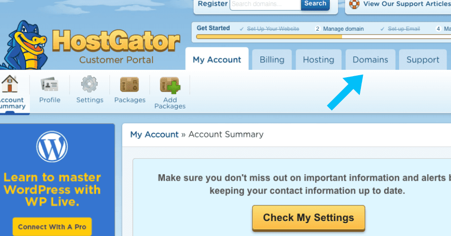 hostgator-customer-panel-account-overview